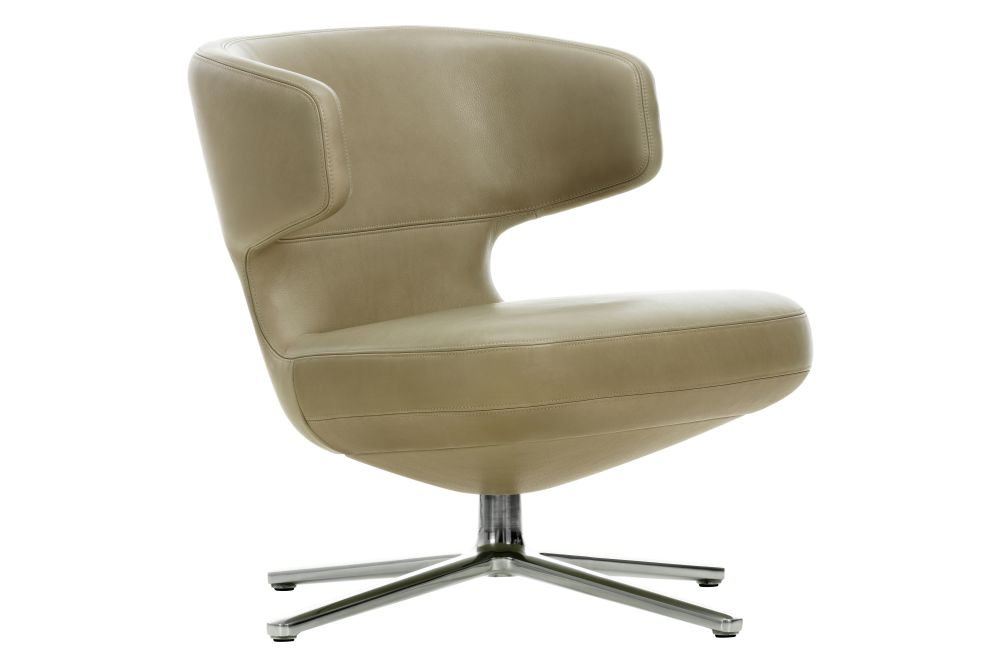 04 glides for carpet, 03 alumium polished, Credo 11 cream/dolphin, 40.5cm,Vitra,Lounge Chairs,beige,chair,furniture,line,office chair