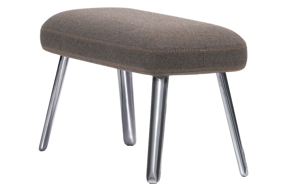 04 glides for carpet, Cosy 01 pebble grey, 02 aluminium polished, 75cm,Vitra,Footstools,bar stool,chair,furniture,ottoman,stool