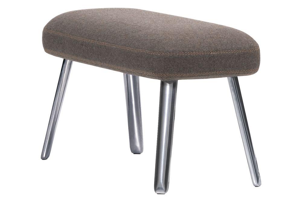 04 glides for carpet, Dumet 06 pebble melange, 02 aluminium polished, 75cm,Vitra,Footstools,bar stool,chair,furniture,ottoman,stool
