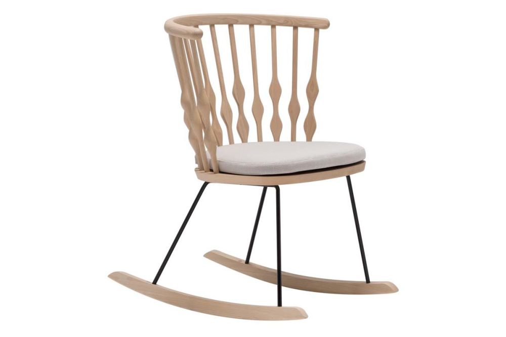 Nub Rocker Base Armchair with Seat Cushion by Andreu World