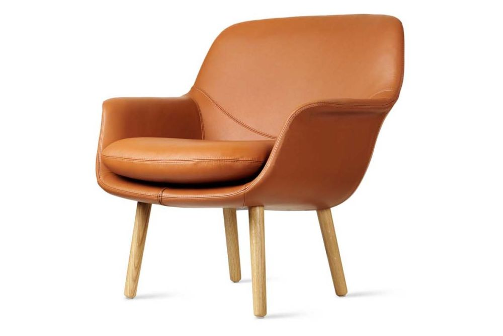 Pricegrp. Remix, Oak Oil,Icons Of Denmark,Breakout Lounge & Armchairs,chair,comfort,furniture,leather,plywood,tan