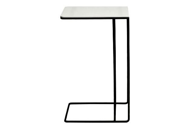 Powder Coated Black, Black, 35w x 30d x 60h cm,Icons Of Denmark,Coffee & Side Tables,line,table