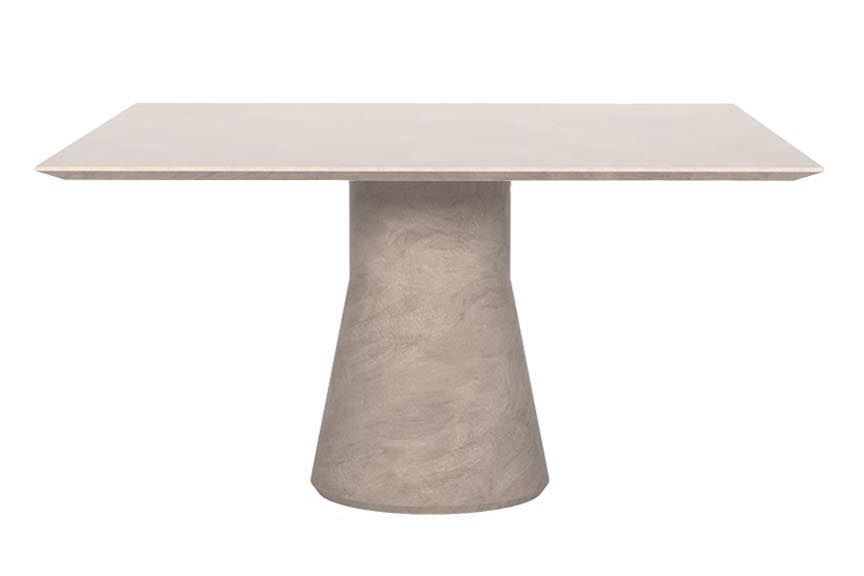Reverse Square Cement Finish Conference Table by Andreu World