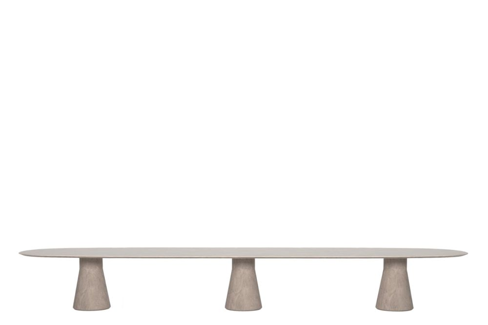 Reverse Conference Cement Table with 3 Central Base by Andreu World