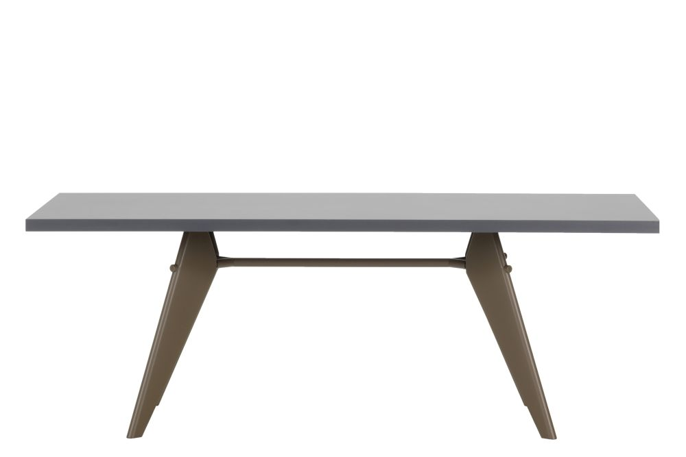74 x 90 x 260 cm, solid oak smoked oiled, 12 deep black powder-coated (smooth),Vitra,Tables & Desks,coffee table,desk,furniture,outdoor table,rectangle,sofa tables,table