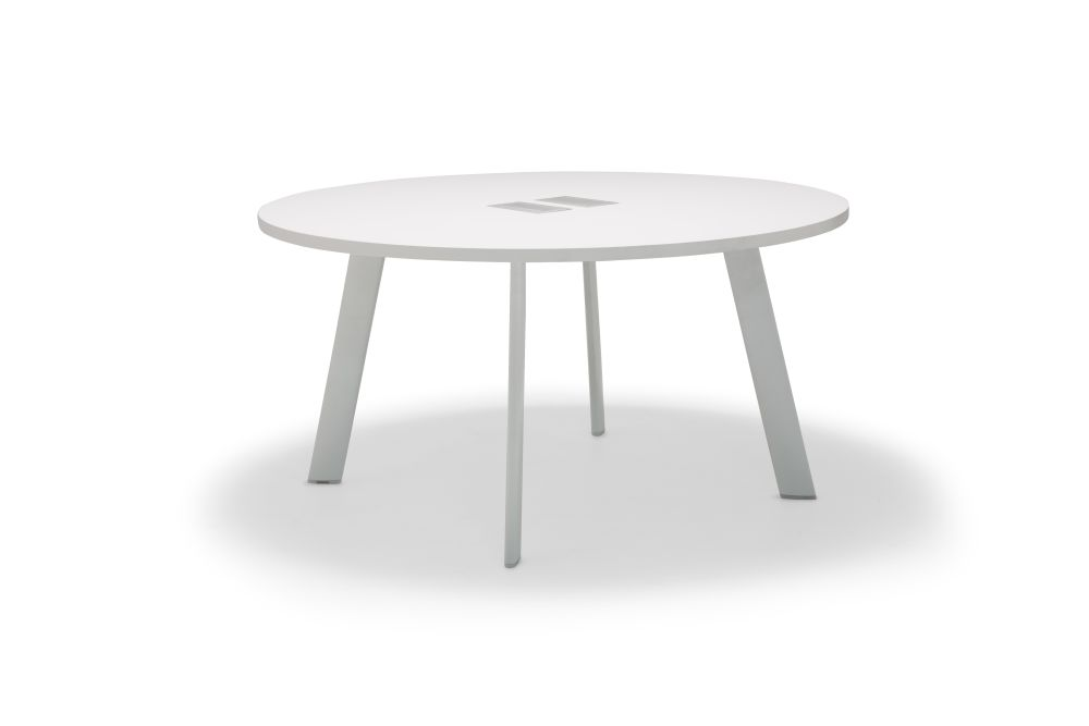 Aluminium White, Wood finish Oak, 120 x 74.5,Andreu World,Conferencing Tables