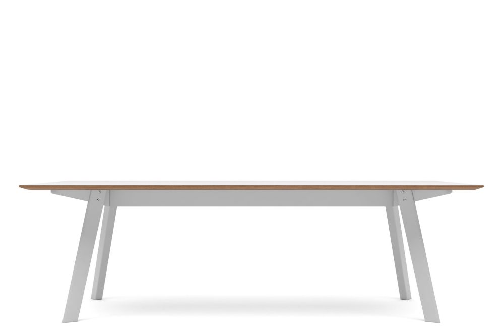 Walnut veneer, RAL9016 - Traffic white,Modus ,Conferencing Tables
