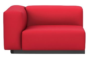 Volo 02 dark grey, High armrests,Vitra,Sofas,chair,club chair,couch,furniture,red