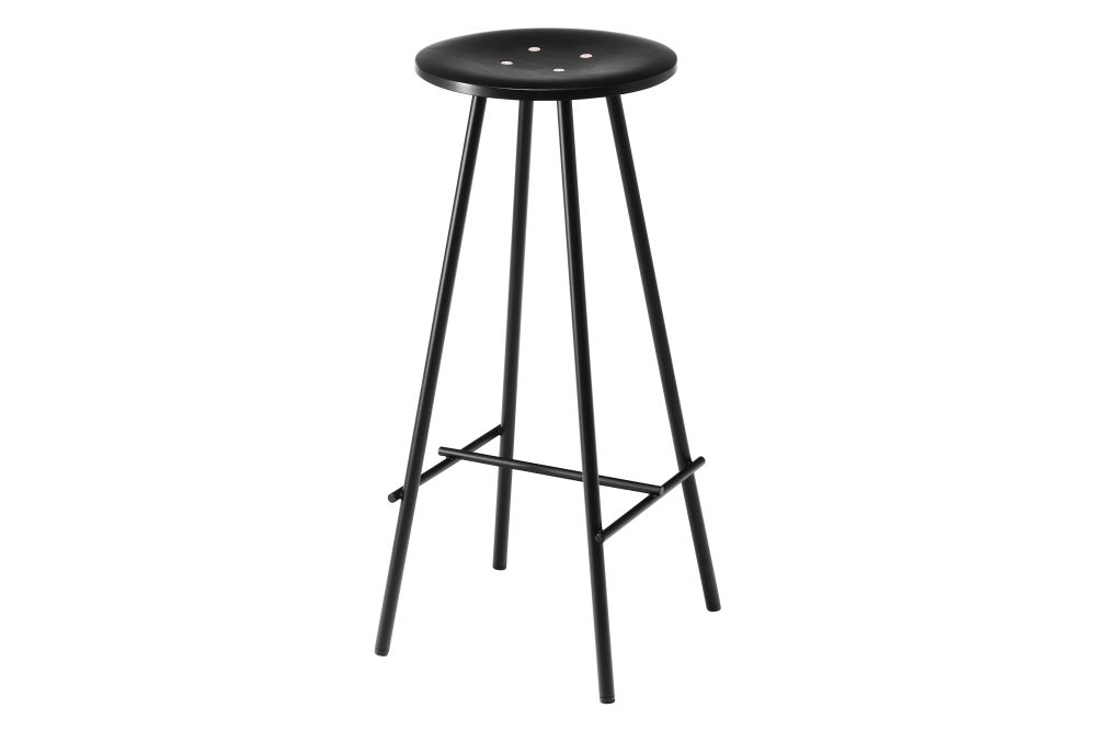 Beech, RAL 9005, 45cm,Icons Of Denmark,Stools