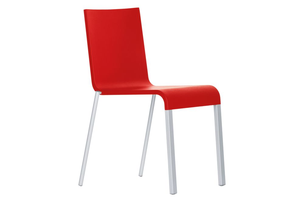 powder-coated silver, 01 Basic Dark, 04 Glides for Carpet,Vitra,Seating,chair,furniture,material property,red