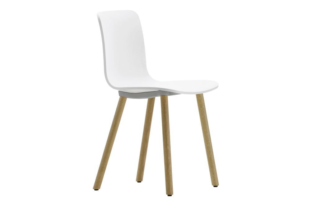 HAL Wood Base Dining Chair by Vitra