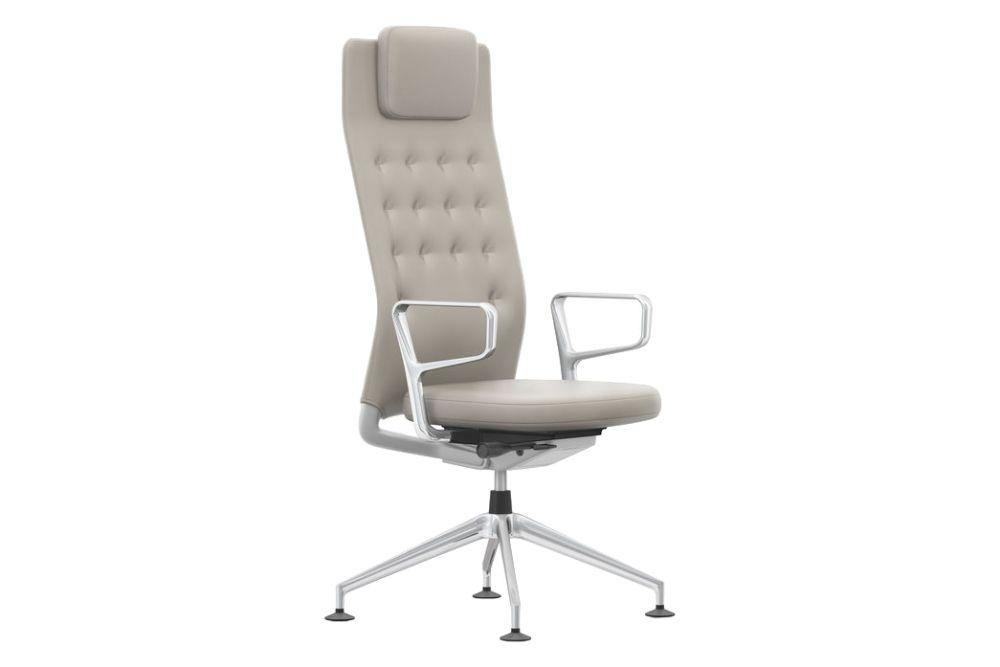 Plano 05 cream white/sierra grey, Plano 05 cream white/sierra grey, 30 basic dark, 02 castors hard - braked for carpet,Vitra,Task Chairs