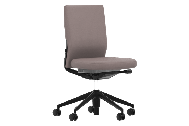 Volo 16 black, Volo 16 black, 30 basic dark, 02 castors hard - braked for carpet,Vitra,Task Chairs,chair,furniture,line,material property,office chair,product