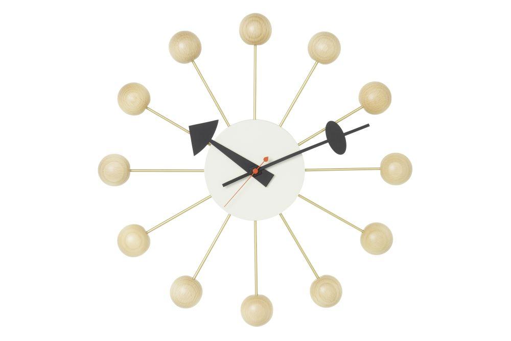 black/brass,Vitra,Clocks