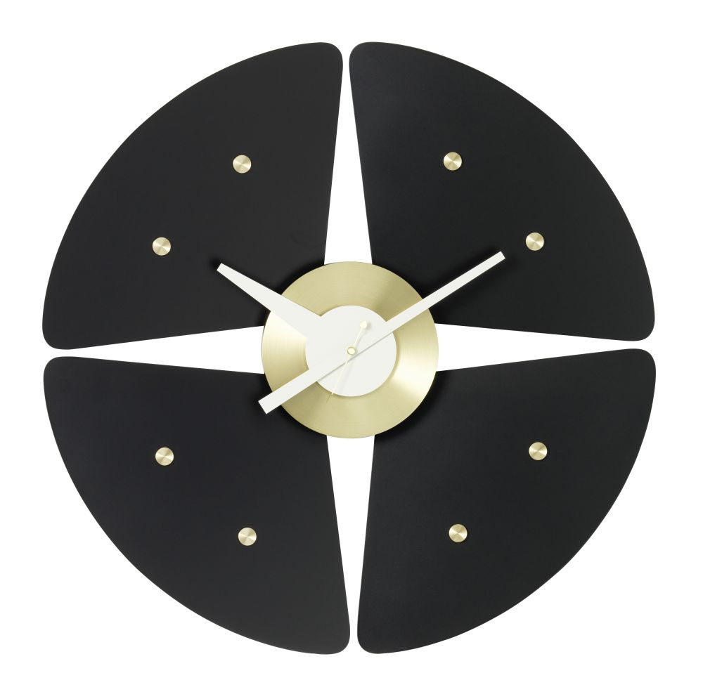 black/brass,Vitra,Clocks