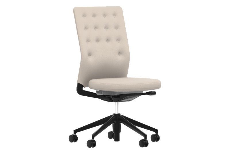 Plano 05 cream white/sierra grey, Plano 05 cream white/sierra grey, 30 basic dark, 02 castors hard - braked for carpet,Vitra,Task Chairs,beige,chair,furniture,line,material property,office chair,product
