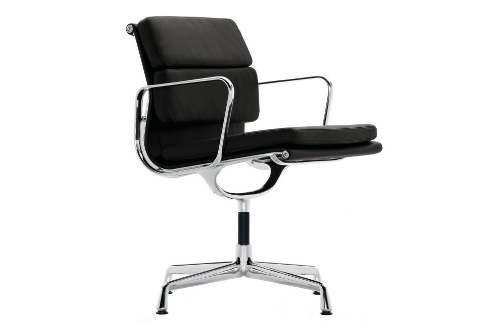 Classic Height, 04 Glides for carpet, Leather Premium 72 snow, chromed aluminium,Vitra,Office Chairs