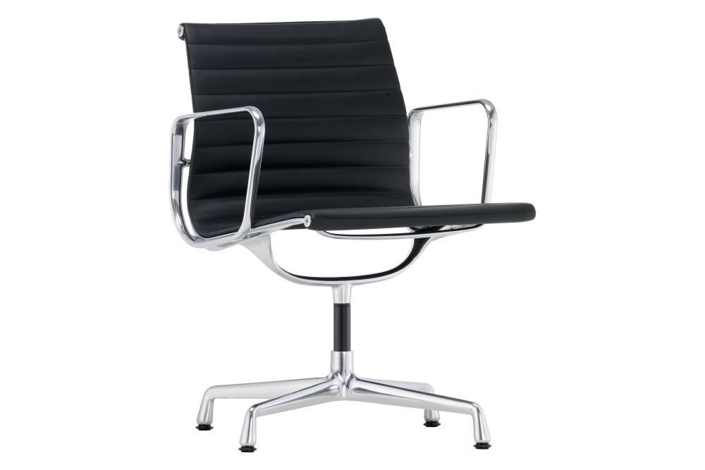 EA 108 Aluminum Meeting Chair - Swivel, With Armrests by Vitra