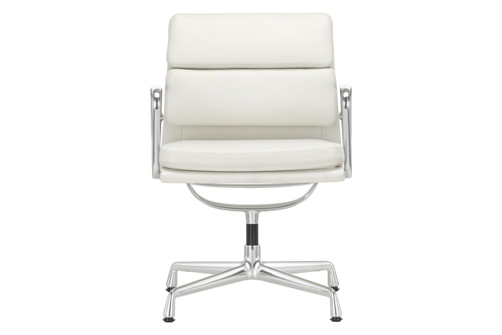 EA 207 Soft Pad Meeting Chair - Non Swivel, With Armrests by Vitra