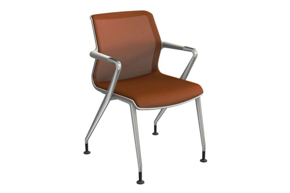 Silk Mesh 24 soft grey, 30 basic dark, 02 castors hard braked for carpet,Vitra,Office Chairs