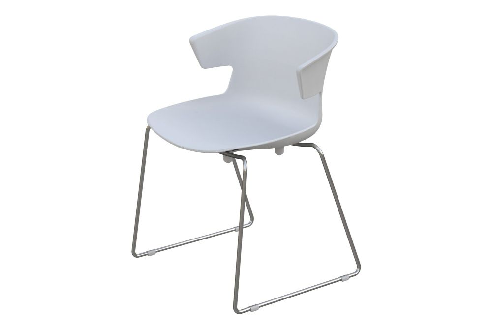 White Ral9003, Chrome metal,Quadrifoglio,Breakout & Cafe Chairs