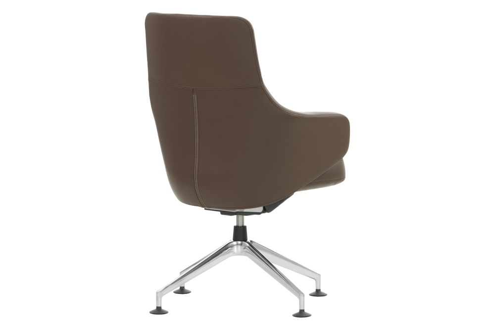 Leather 72 snow, 04 glides for carpet,Vitra,Conference Chairs,beige,brown,chair,furniture,line,office chair