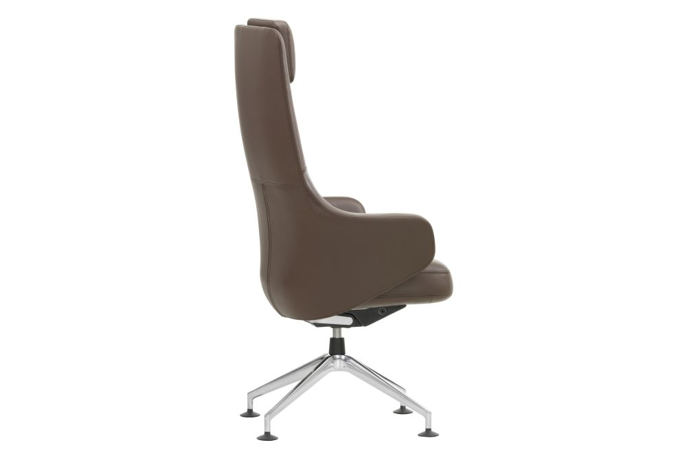 Leather 72 snow, 04 glides for carpet,Vitra,Conference Chairs