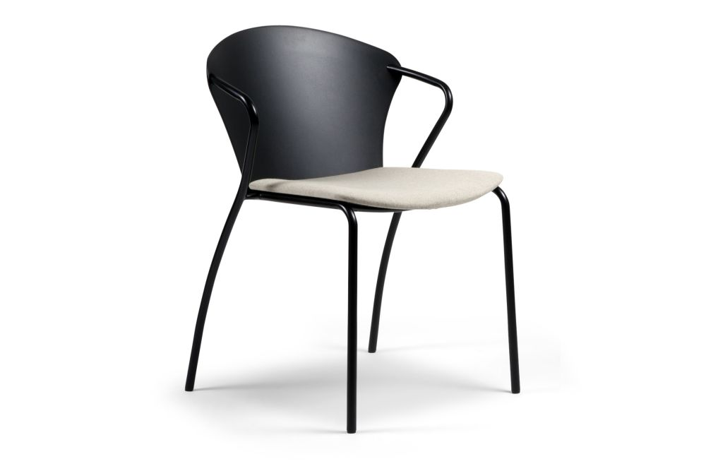 Chrome, Black Plastic, Fabric Group 1,Onecollection,Breakout & Cafe Chairs