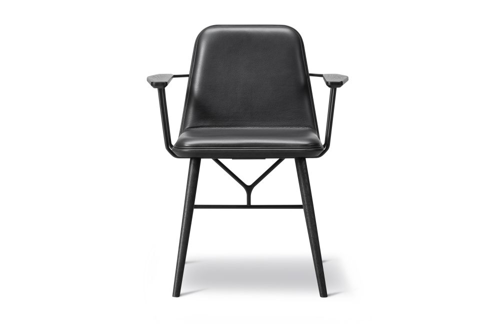 Spine Wood Base Armchair - Front Upholstered by Fredericia