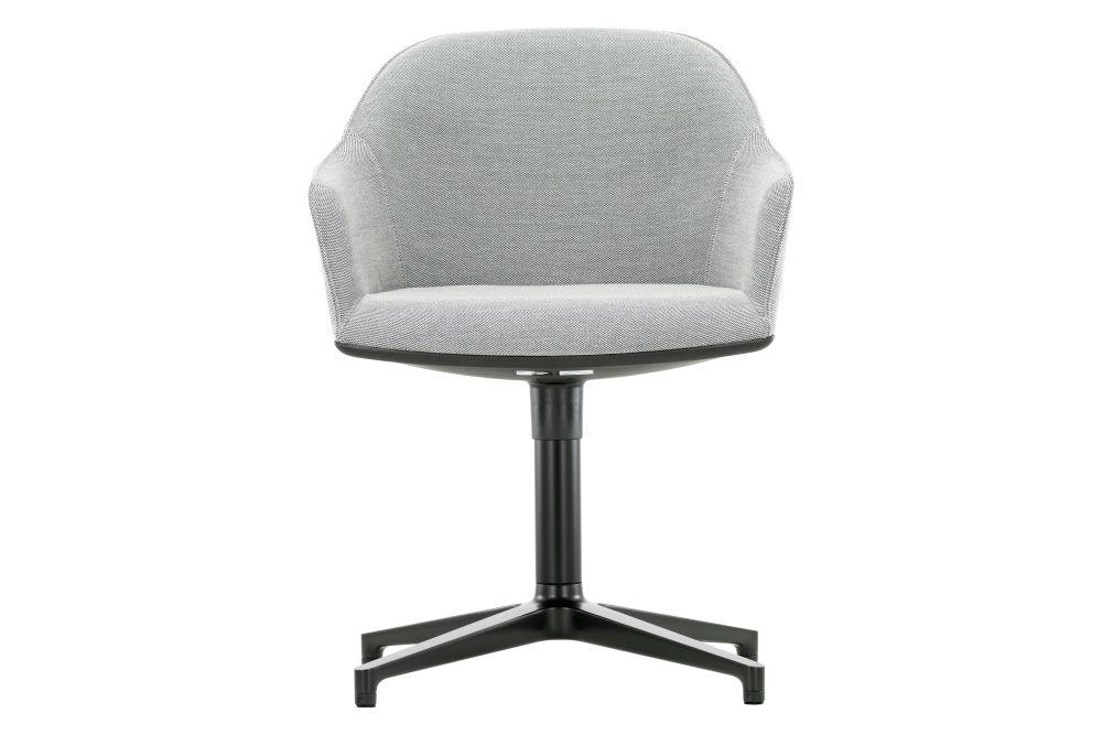 04 glides for carpet, aluminium basic dark coated, Twill 01 light grey,Vitra,Office Chairs
