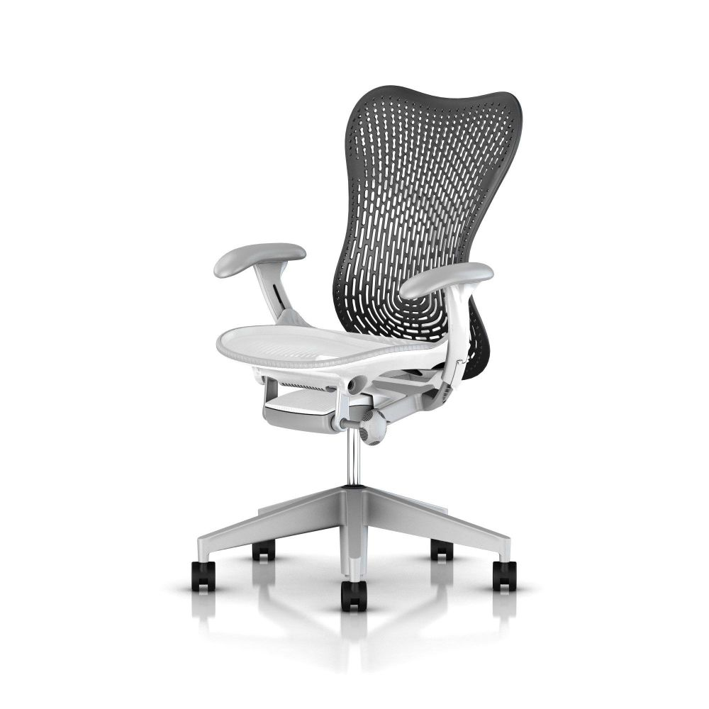 Fully Adj Arms / FlexFront Seat / Full Spec Tilt / Graphite Base Frame & Back / Black TriFlex Polymer Back / Black Armpads / Graphite 1A703 AireWeave,Herman Miller,Task Chairs