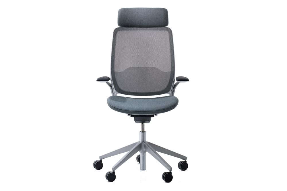 Price Group 3, Black, Ash Mesh, Polished Aluminium, Polished Aluminium, 6.5cm Soft Black,Orangebox,Task Chairs