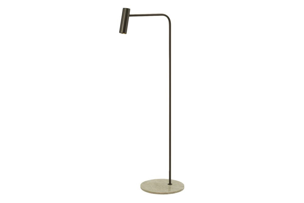 Bronze with honed marble base- EU plug,CTO Lighting,Floor Lamps