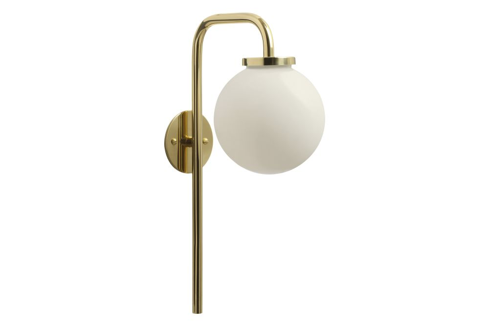 Polished brass with opal glass shade,CTO Lighting,Wall Lights