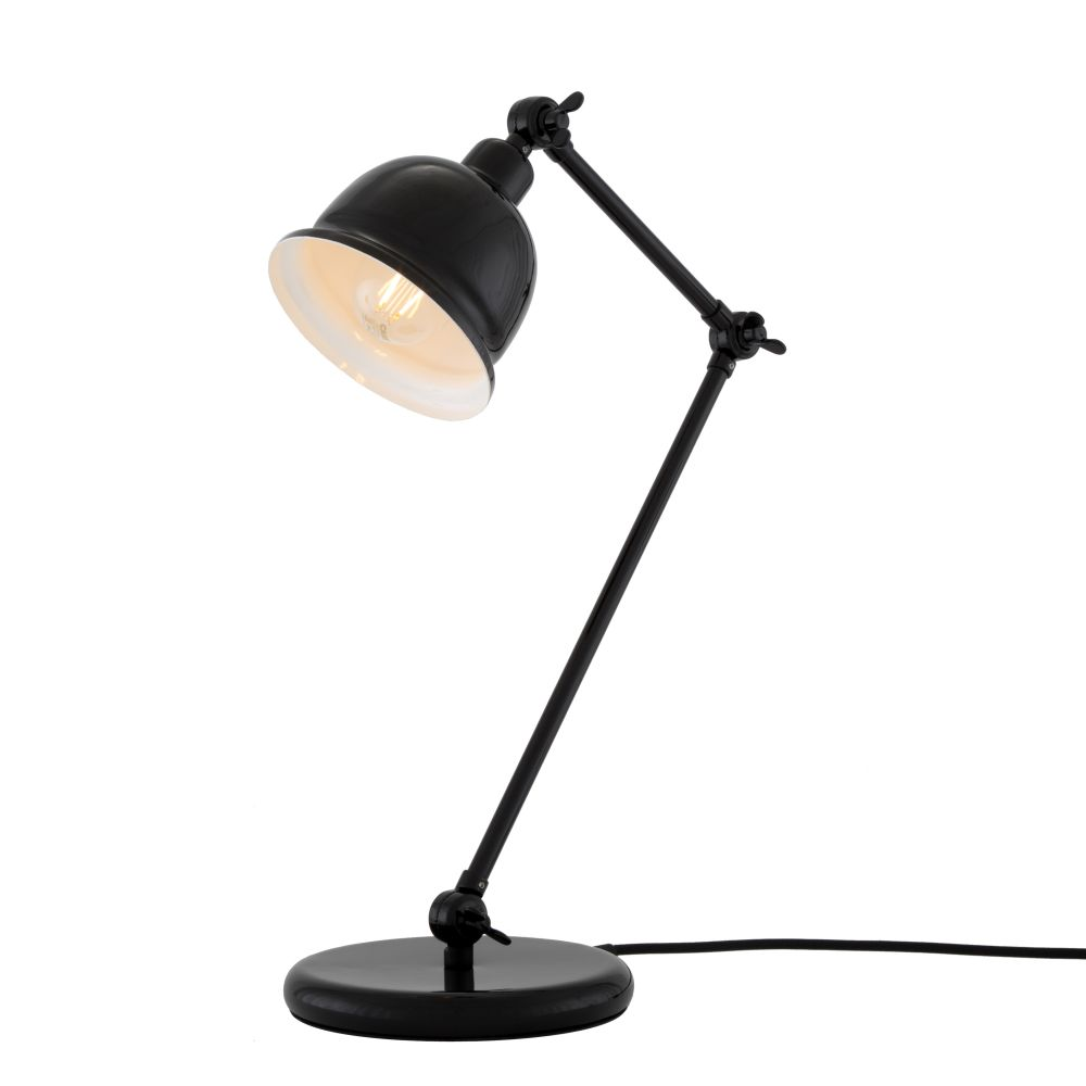 Powder Coated Black, UL Plug,Mullan Lighting  ,Table Lamps