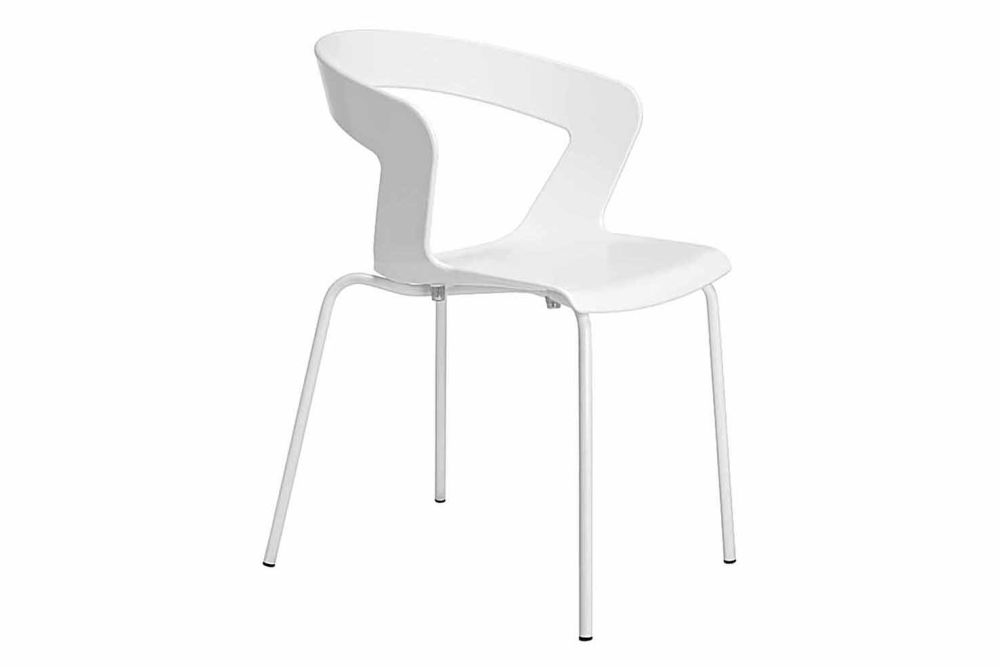 Traffic white RAL 9016, CR S Satin chrome,et al.,Breakout & Cafe Chairs