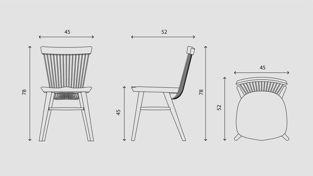 WW CHAIR - OAK & BLACK,Hayche,Dining Chairs