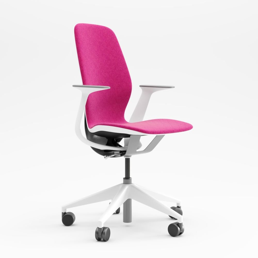 Steelcase,Task Chairs,armrest,chair,furniture,line,material property,office chair,pink,plastic,product,purple,violet
