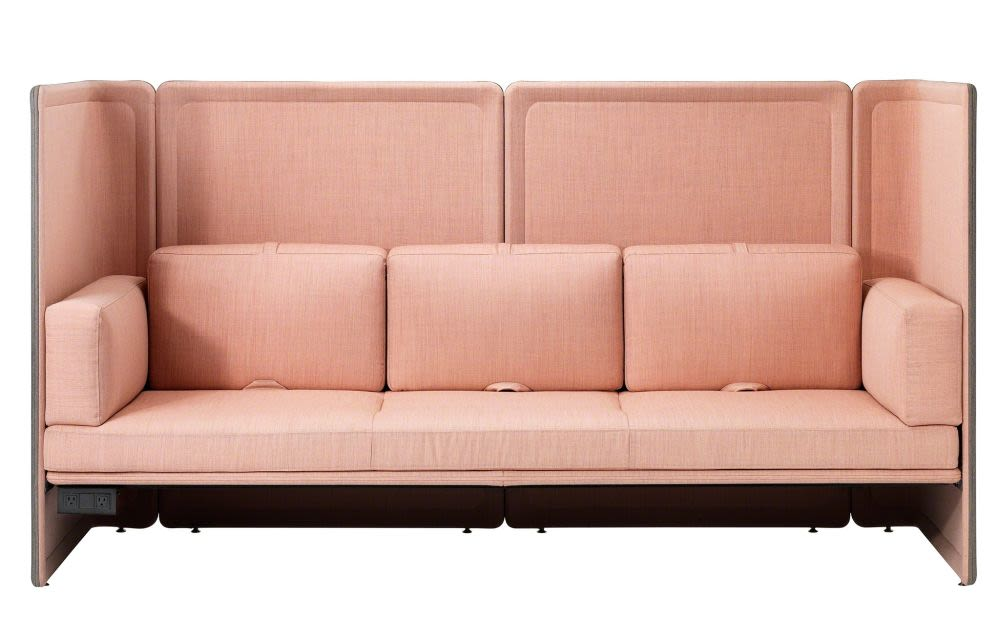 Coalesse,Breakout Sofas,armrest,beige,couch,furniture,futon,leather,loveseat,outdoor sofa,room,sofa bed