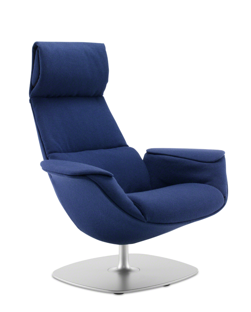 Coalesse,Breakout Lounge & Armchairs,blue,chair,furniture,recliner