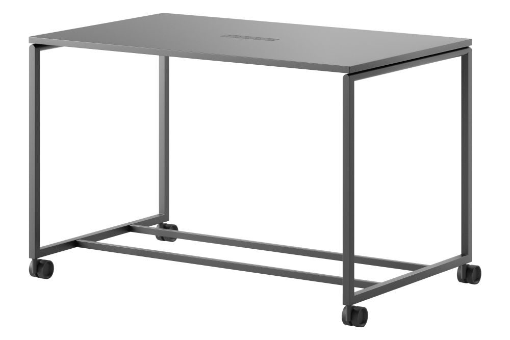 L1 Linoleum Charcoal 4166, With,Fantoni,Fixed Height Desks
