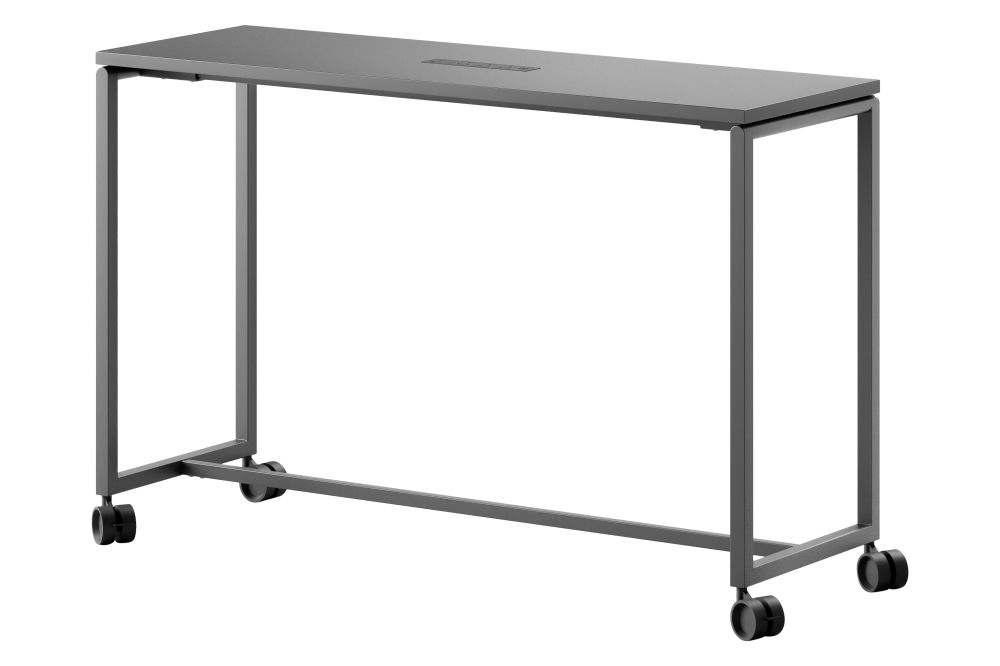 GG Graphite Grey Melamine, Without,Fantoni,Fixed Height Desks