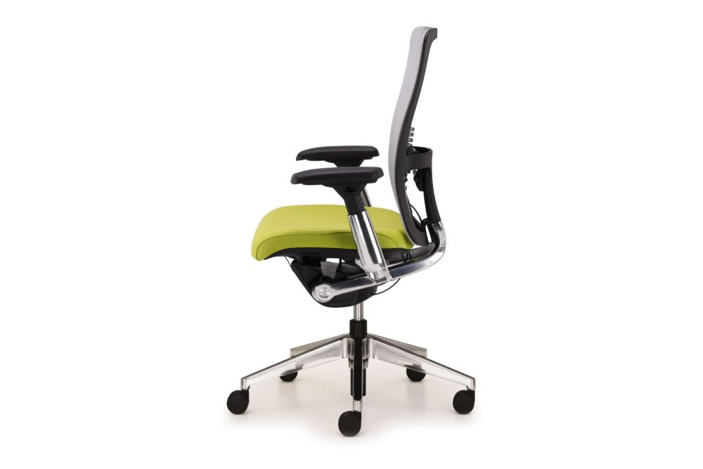 4D Armrests, F6, smoke frame and aluminum structure, hard castor, retardant foam,Haworth,Task Chairs