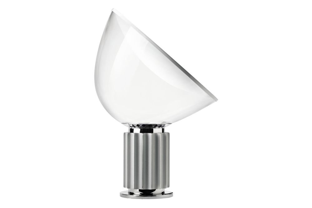 Metal Anodized Silver, Glass Shade,Flos,Table Lamps