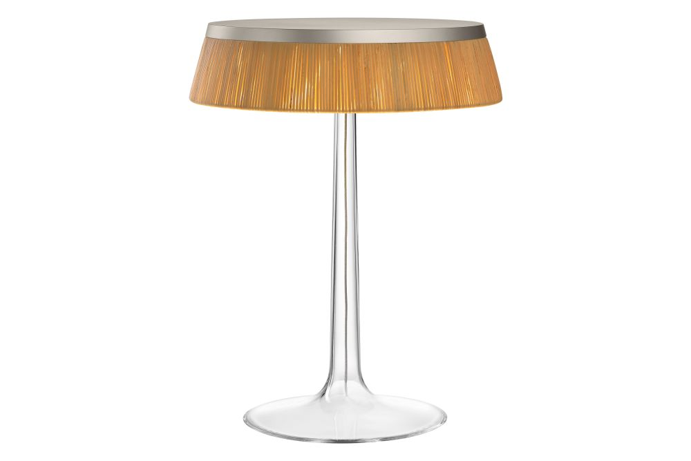 Rattan, PMMA Matt Chrome,Flos,Table Lamps