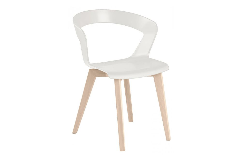 RAL 9016 Traffic-White, Maple stained beech wood,et al.,Breakout & Cafe Chairs