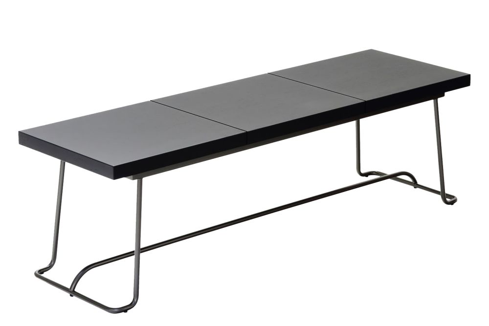 Black Oak, Lacquered Bronze Metal,Coedition,Benches