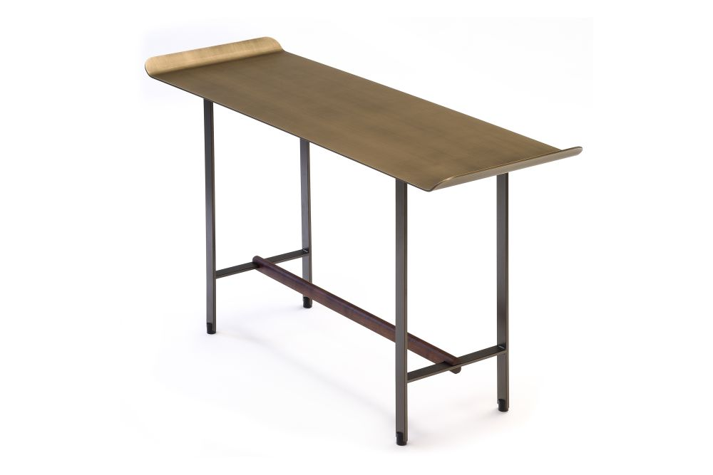 Bronze Lacquered Metal, Solid Walnut, Bronze Patinated Metal,Coedition,Coffee & Side Tables