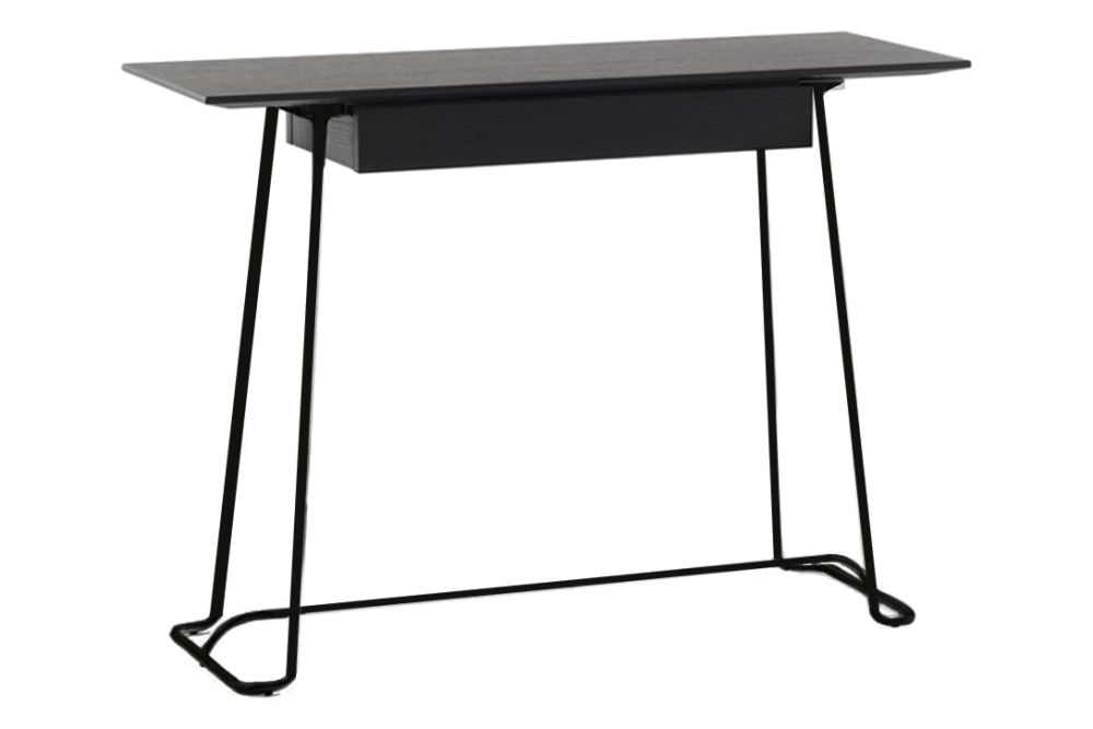 Black Oak, Lacquered Bronze Metal,Coedition,Console Tables