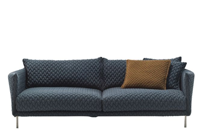 People for Gentry 4 Big Braid graphite, Stainless Steel,Moroso,Sofas,couch,furniture,loveseat,outdoor furniture,outdoor sofa,sofa bed,studio couch